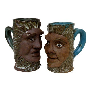 Decorative Ceramic Mugs, A Pair