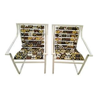 Samsonite Tubular Steel Patio Chairs - a Pair