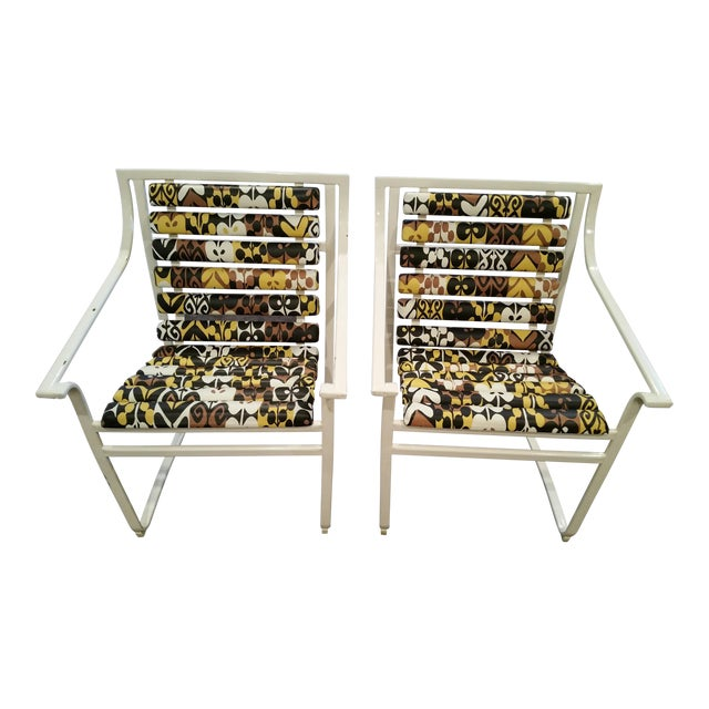 Image of Samsonite Tubular Steel Patio Chairs - a Pair