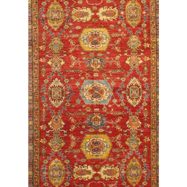"Image of Red, Gold & Blue Kazak Rug - 5'7"" X 8'0"""