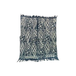 African Indigo Ndop Cameroon Ceremonial Throw