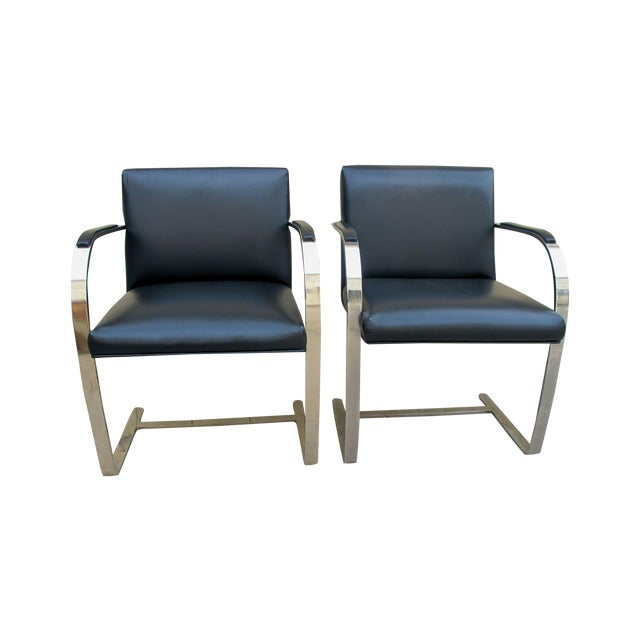 Brno Chairs by Ludwig Mies Van Der Rohe - A Pair - Image 1 of 7
