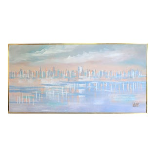 Pastels Cityscape Painting by Lee Reynolds