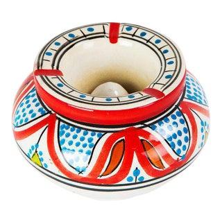 Moroccan Atlas Multicolored Ceramic Ashtray