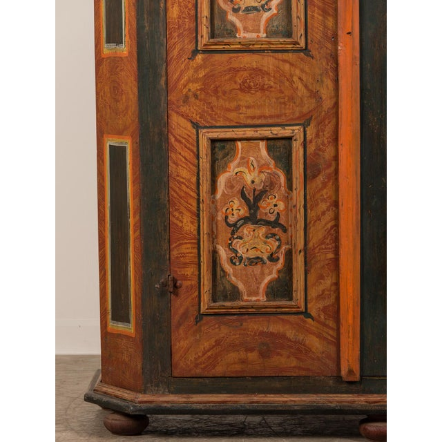 Antique German Hand Painted Dowry Cabinet, Two Doors, circa 1800 - Image 8 of 11
