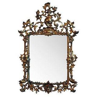 Cast Brass Ornate Mirror