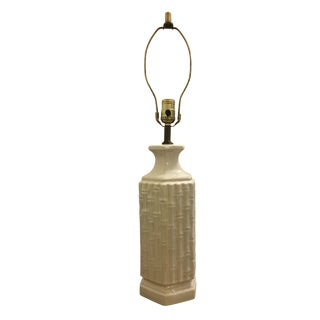 White Faux Bamboo Lamp