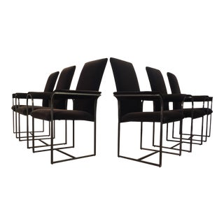 Brown Velvet Dining Chairs - Set of 6