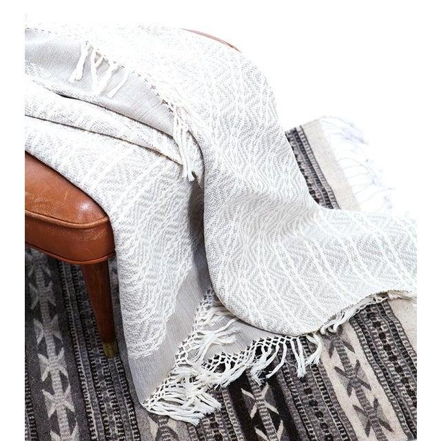 Image of Gray Handwoven Chiapas Throw