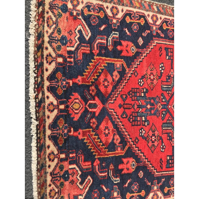 "Vintage Persian Zanjan Short Runner - 2'9"" x 6' - Image 6 of 10"