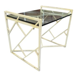 Vintage Steel & Glass Table