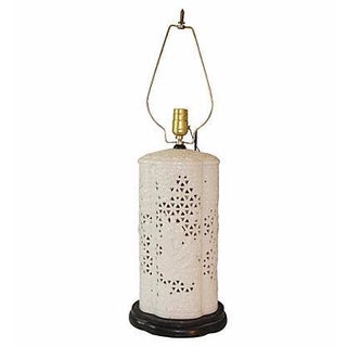 Reticulated Blanc De Chin Lamp