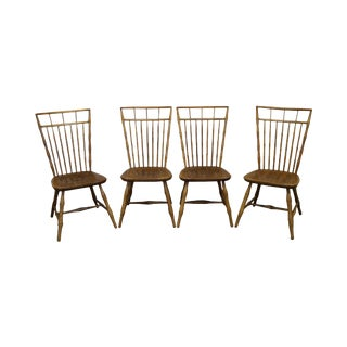 Nichols & Stone Maple Birdcage Windsor Style Dining Chairs - Set of 4