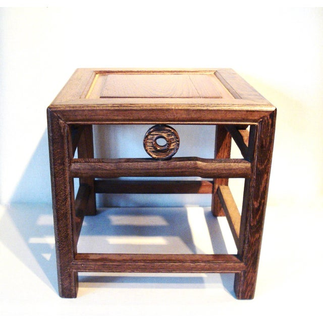 Jichimu chicken wood low table stool chairish for Table 52 prices