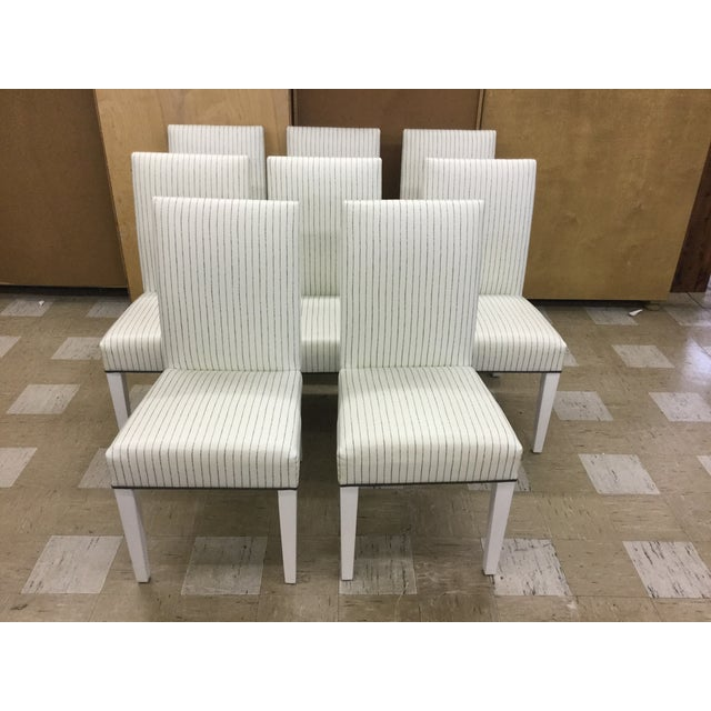 Custom Barclay Butera Vinyl Parsons Chairs - 8 - Image 2 of 6