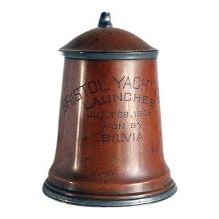 Antique Copper Yacht Club Trophy Mug