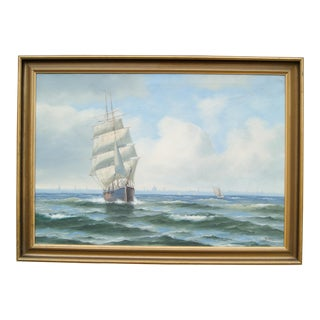 Steen Bille Schooner Seascape Painting