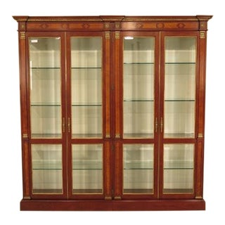 Widdicomb Cherry 4 Door Curio Display Cabinet