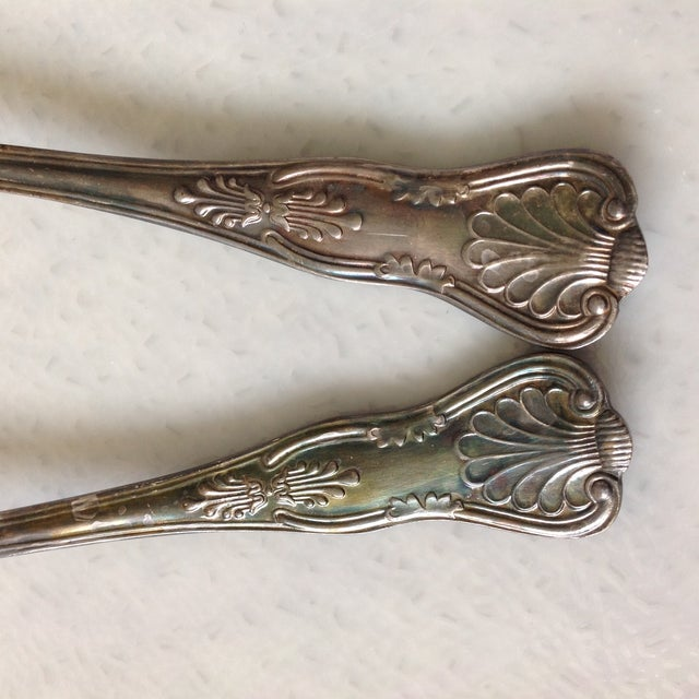 English Silver Plated Berry Servings Spoons - Pair - Image 9 of 9
