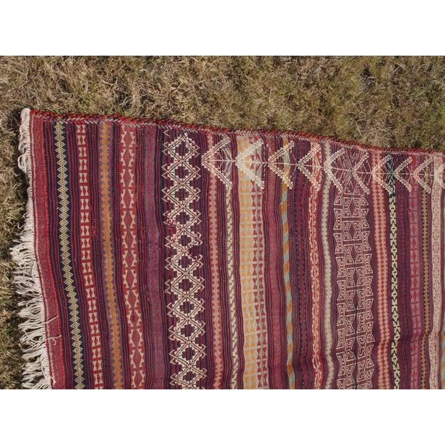 Traditional Handmade Kilim Rug - 4′6″ × 8′1″ - Image 7 of 9