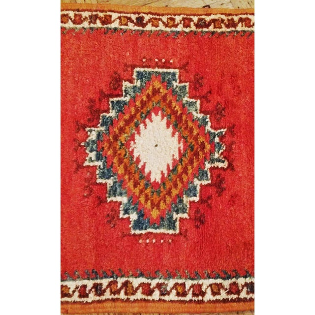 Coral and Turquoise Hallway Runner Pile Rug - Handmade Moroccan Taznacht - 2′3″ × 9′7″ - Image 6 of 7
