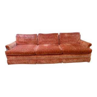 Coral Velvet Sofa