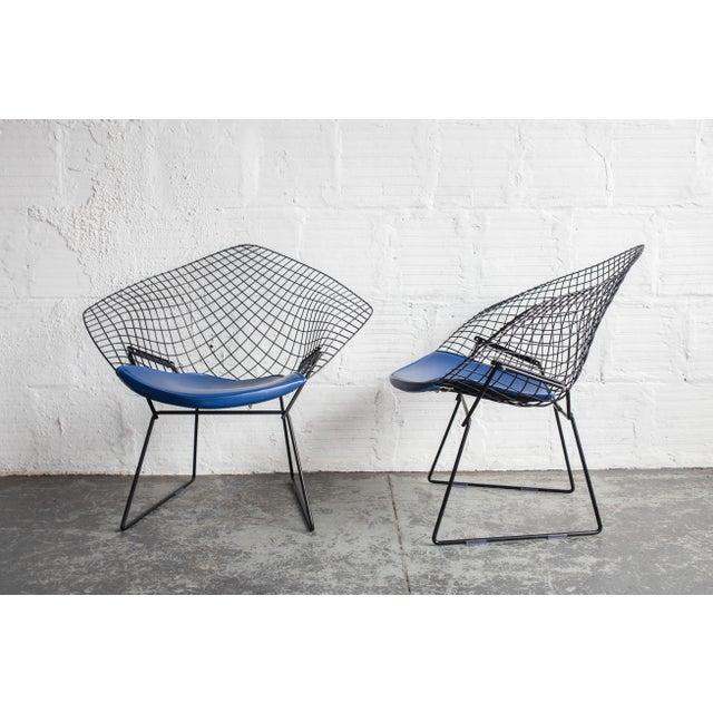 Knoll Bertoia Black Diamond Chairs- Pair - Image 3 of 7