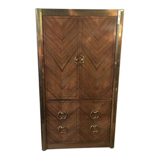 Mastercraft Zebrano Wood Armoire
