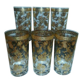 Vintage Hollywood Regency, Culver Chantilly Glasses - Set of 6