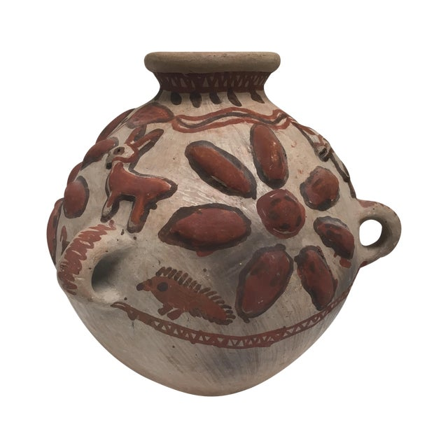 Image of Mid-Century Hand Painted Peruvian Folk Art Pottery