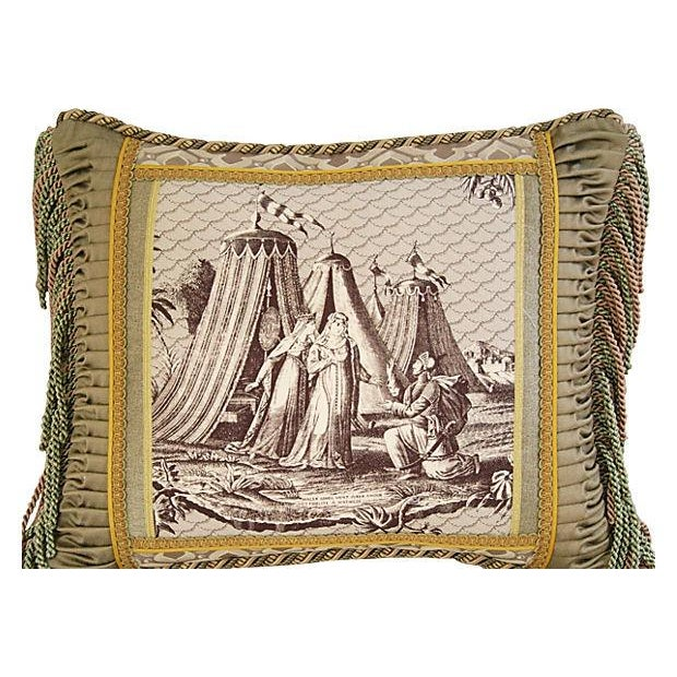 Designer Jane Shelton French Toile Accent Pillow - Image 2 of 6