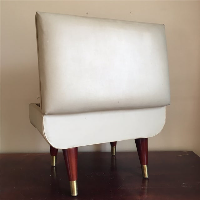 Mid-Century Sewing Stool with Storage - Image 5 of 11