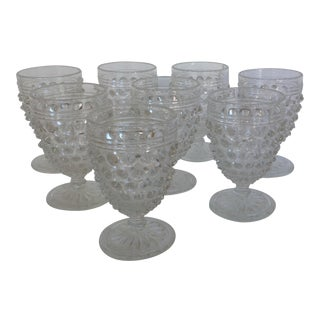 Hobnail Crystal Aperitif or Cordial Glasses- Set of 8