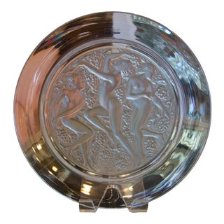 Lalique Baccantes Crystal Charger