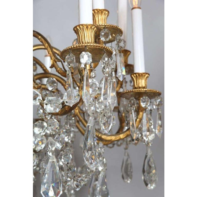 Crystal & Bronze 18-Light Chandelier from the Ritz Carlton on Palm Beach - Image 7 of 10