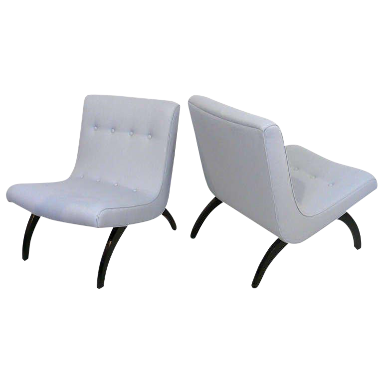 Pair Of Milo Baughman Scoop Chairs   Image 1 Of 10