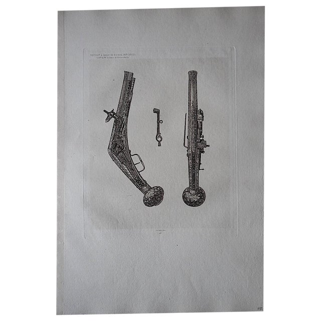 Antique Early Flintlock Etching - Image 1 of 3