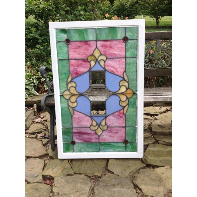 Antique Stained Glass Windows - Pair - Image 3 of 6