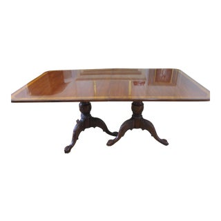 Hickory Chair James River Baltimore Twin Pedestal Mahogany Dining Table
