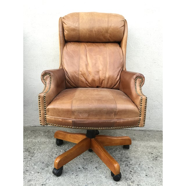 Mid-Century Italian Leather Chairs - Pair - Image 4 of 11