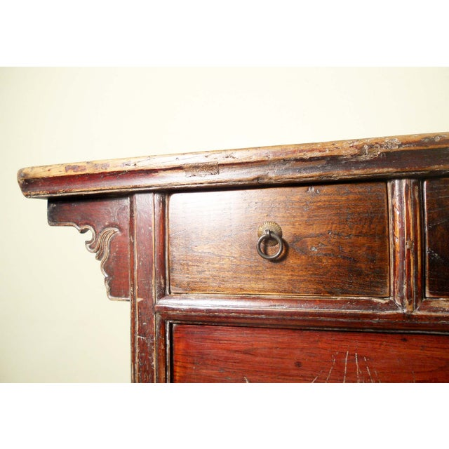 "Image of Antique Ming ""Butterfly"" Coffer, Camphor Wood"