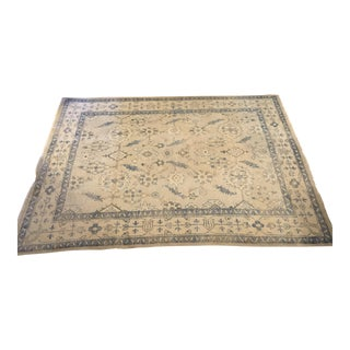 Blue & Cream Turkish Rug - 8′ × 10′