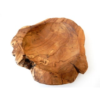 Hand Carved Rustic Wooden Bowl