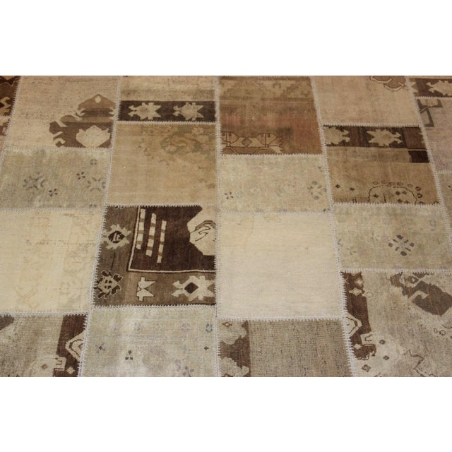 Image of Turkish Multi-Colored Patchwork Rug - 8' x 10'