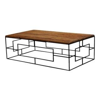 Sarreid Ld. Reclaimed Elm Door Coffee Table