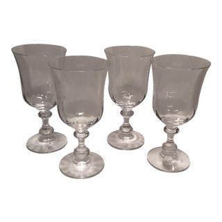 "Vintage Crystal Mikasa ""French Country"" Water Goblets - S/4"