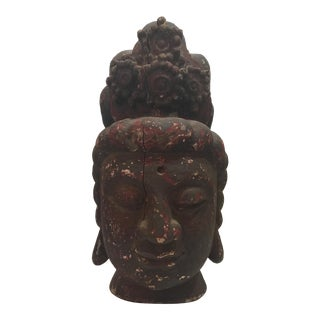 Quan Yin Large Scale Wood Bust