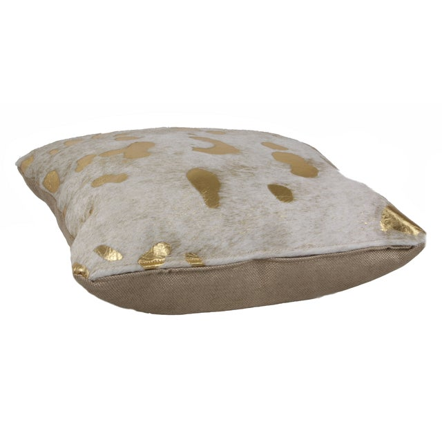 Gilded Hide Pillow - Image 2 of 3