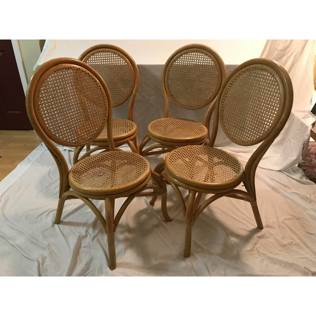 Sheet Cane Bentwood Bistro Chairs - Set of 4 - Image 2 of 10
