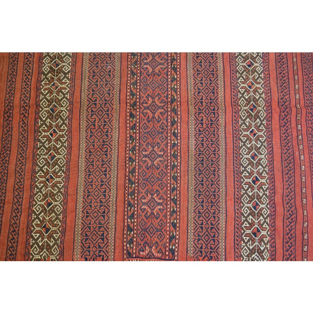 "Vintage Turkish Aztec Print Rug - 5'1"" x 5'3"" - Image 5 of 8"
